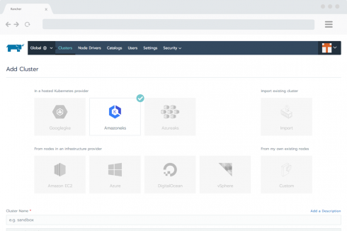 Rancher Labs supports multi-cluster Kubernetes applications