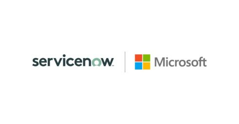 Microsoft and ServiceNow logos