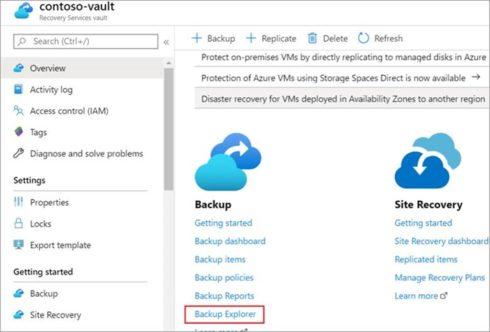Locating the Microsoft Azure Backup Explorer