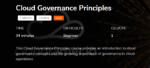 Cloudtamer.io's Cloud Governance Principles course