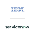 IBM and ServiceNow logos