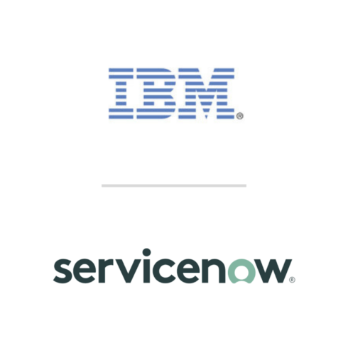 IBM and ServiceNow logos
