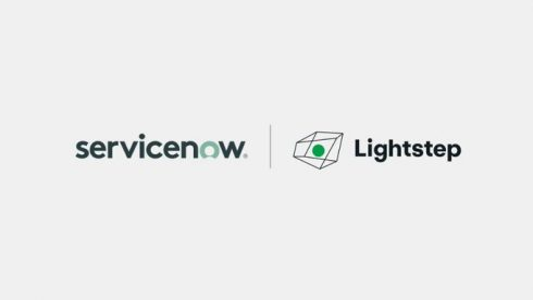 ServiceNow and Lightstep logos
